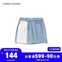 skirt Autumn of 2019 XS S M Bll / blue Short skirt Natural waist More than 95% UNDER GARDEN cotton Cotton 100%