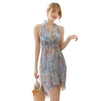 Bikini Other brands Sky blue, off white, yellow M [80-95 Jin], l [95-105 Jin], XL [105-130 Jin] Skirt bikini Steel strap breast pad polyester fiber Z-032073