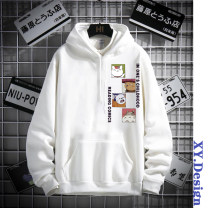 Sweater Youth fashion Tagkita / she and others S,M,L,XL,2XL,3XL Cartoon animation Socket Plush Hood autumn easy leisure time teenagers tide Off shoulder sleeve printing No iron treatment Kangaroo pocket