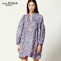 Dress Spring 2021 30FN 34 36 38 Middle-skirt singleton  Long sleeves Sweet other Broken flowers Socket other routine 25-29 years old ISABEL MARANT RO1591-21P009E More than 95% cotton Cotton 100% Bohemia Same model in shopping mall (sold online and offline)