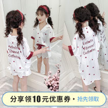 Home skirt / Nightgown Polyester 95% polyurethane elastic fiber (spandex) 5% summer female 3-5 years old 5-7 years old 7-9 years old 9-11 years old Home Class B other Autumn of 2019