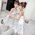 Home skirt / Nightgown Polyester 95% polyurethane elastic fiber (spandex) 5% summer female 3-5 years old 5-7 years old 7-9 years old 9-11 years old Home Class B other Summer of 2019