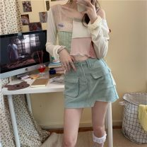 Other outdoor clothing 51-100 yuan 0220+ Other / other empty teenagers Green skirt, black skirt, green T-shirt, gray T-shirt S. L, m, one size fits all