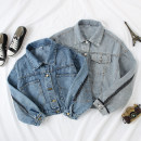 short coat Autumn of 2019 S,M,L Blue, light blue Long sleeves routine routine singleton  easy commute routine Polo collar Single breasted Solid color 18-24 years old Other / other 81% (inclusive) - 90% (inclusive) Pocket, make old cotton