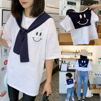T-shirt white Hello Memory neutral summer elbow sleeve Crew neck leisure time There are models in the real shooting nothing other other Other 100% Class B other Summer 2020 Chinese Mainland Zhejiang Province Huzhou City
