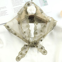 Scarf / silk scarf / Shawl other Hualianhua tea green, hualianhua white, hualianhua black, hualianhua brown, hualianhua pink, hualianhua orange Spring and autumn, winter female Scarves / scarves decorate Korean version triangle youth Plants and flowers Lace Shanghai Story QL10123