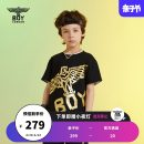 T-shirt black BOY LONDON 110cm 120cm 130cm 140cm 150cm 160cm neutral summer Short sleeve There are models in the real shooting nothing cotton Brand logo Cotton 100% Spring 2021 Four, five, six, seven, eight, nine, ten, eleven, twelve