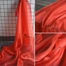 Fabric / fabric / handmade DIY fabric Netting Liulihong (half meter price, more than one shot, not cut), liulihong sample (11 * 11cm size) Loose shear rice Solid color printing and dyeing clothing Europe and America