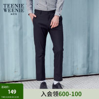 Casual pants TeenieWeenieMen Youth fashion Black a army green a navy blue a 170/M 175/L 180/XL 185/2XL routine trousers Other leisure Straight cylinder TNTC92302K summer youth 2019 middle-waisted Straight cylinder Cotton 97.8% polyurethane elastic fiber (spandex) 2.2% Solid color Summer of 2019