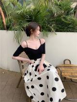 skirt Summer 2021 S, M Apricot polka dot skirt, black base shirt Mid length dress commute High waist A-line skirt Dot Type A 18-24 years old 81% (inclusive) - 90% (inclusive) other Other / other other Stitching, printing Korean version