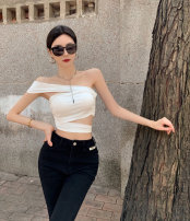 undergarment covering the chest and abdomen Spring 2021 S, M White, black singleton  have cash less than that is registered in the accounts commute Self cultivation 18-24 years old Solid color 31% (inclusive) - 50% (inclusive) Other / other Asymmetry Korean version