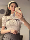shirt white S, M Summer 2021 other 96% and above Short sleeve commute Short style (40cm < length ≤ 50cm) Polo collar puff sleeve Solid color 18-24 years old Self cultivation Other / other Korean version bow