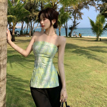 undergarment covering the chest and abdomen Summer 2021 S, M Picture color singleton  routine commute Self cultivation 18-24 years old other Other / other 5133# backless Korean version