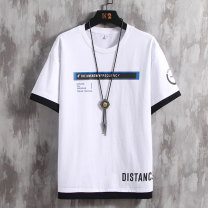 T-shirt Youth fashion routine M,L,XL,2XL,3XL UNIQLO / UNIQLO Short sleeve Crew neck easy Other leisure summer Cotton 100% youth routine tide Cotton wool 2021 Alphanumeric printing The thought of writing Official website of Hailan home flagship store Fashion brand