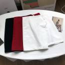skirt Summer 2020 S,M,L White skirt, black skirt, red skirt Short skirt commute High waist A-line skirt Solid color Type A 18-24 years old FG154396 30% and below other other Korean version