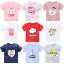 T-shirt neutral summer Short sleeve Crew neck leisure time There are models in the real shooting nothing cotton Cartoon animation Cotton 100% Class A Sweat absorption Summer of 2019 6 months 12 months 9 months 18 months 2 years 3 years 4 years 5 years old Chinese Mainland Guangdong Province