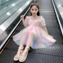 Dress female Plain clothes Polyester 50% other 50% summer princess Short sleeve polyester Princess Dress rainbow AB-2035 Class B 5 years old, 6 years old, 7 years old, 8 years old, 9 years old, 10 years old, 11 years old, 12 years old, 13 years old, 14 years old Chinese Mainland Summer 2021