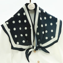 Scarf / silk scarf / Shawl other Brown coffee, butterfly flower, turmeric, black and white dots, cat dark green, flower world gray, Star River Yellow, art buckle blue, stirrup string red edge, mountain blue, Eucalyptus deciduous yellow, flower cluster blue Spring and autumn, winter female Shawl youth