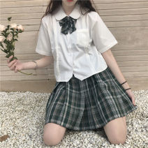 Fashion suit Summer 2020 S. M, average size Shirt + bow single piece, skirt single piece 18-25 years old Four point six 31% (inclusive) - 50% (inclusive)