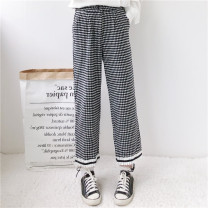 Casual pants Picture color Average size Spring 2020 Ninth pants loose  High waist Sweet routine 18-24 years old 96% and above twelve point one nine other solar system
