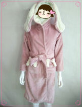 Nightgown / bathrobe Other / other female 160(M),170(XL) RW Pink Hooded Nightgown (without belt) thickening Sweet winter More than 95% youth Embroidery