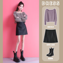 skirt Winter 2020 S M L XL XXL Top grey collection plus enough priority delivery of black fashion caf é will recover 79 yuan at the end of the activity. It is not worth a full refund at the end of 24 o'clock, and the price will be reduced within a limited time and seconds Short skirt commute Type A