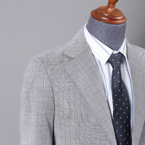 man 's suit Tartan grey Others Business gentleman routine 46,48,50,52,54 8092 Danxi Self cultivation Double breasted banquet Double slit youth Long sleeves Four seasons routine Business Casual Casual clothes Flat lapel lattice Narrow collar (below 7cm) Digging bags with lids