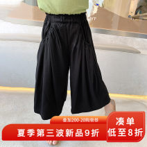 trousers yojia female 80cm 90cm 100cm 110cm 120cm 130cm 140cm 150cm Black Purple summer trousers Korean version There are models in the real shooting Casual pants Leather belt middle-waisted other Don't open the crotch Other 100% Summer 2021