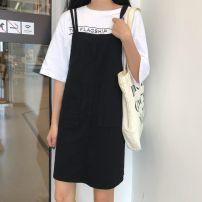 Dress Winter 2016 [920] Khaki S,M,L,XL,2XL Middle-skirt singleton  Sleeveless bow 30% and below