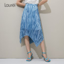 skirt Spring of 2019 155/62A 160/66A 165/70A 170/74A 175/78A Blue mix Mid length dress commute Natural waist 30-34 years old LWL321Q06400 More than 95% LAUREL polyester fiber Ol style Polyester 100% Same model in shopping mall (sold online and offline)