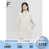 Dress Winter 2020 white S M L XL Mid length dress singleton  Long sleeves commute High collar middle-waisted Solid color Socket other routine Others 25-29 years old Type H FUUNNY FEELLN lady Lace FF00449 31% (inclusive) - 50% (inclusive) wool Same model in shopping mall (sold online and offline)