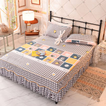 Bed skirt polyester fiber Rain dream, orchid heart, clouds, purple feelings, Bixin, first encounter, pure white flower language, big strawberry, big orange, so dream, flower blooming, flower spreading, flower language, happy day, radish, then flower blooming, fashion wind, sunflower Other / other