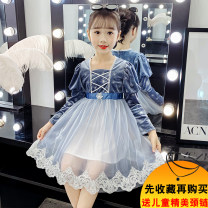 Dress Picture color female Junxi Mengbao 110cm 120cm 130cm 140cm 150cm 160cm Other 100% spring and autumn princess Long sleeves other Fluffy skirt YHSF8022 Class B