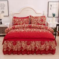 Bedding Set / four piece set / multi piece set spandex other Plants and flowers 128x68 Other / other cotton 4 pieces 40 100% cotton D2743D72