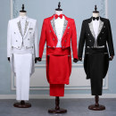 Suit Business gentleman Others White curved, black curved, red curved, white solid, black solid Extra small XXS (about 90 kg), plus small XS (about 110 kg), small S (about 125 kg), medium M (about 145 kg), large L (about 170 kg), plus XL (about 190 kg) routine Baling collar Back middle slit standard