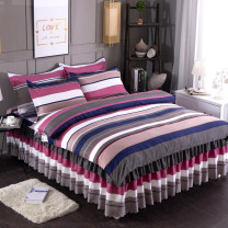 Bedding Set / four piece set / multi piece set cotton Quilting Plants and flowers 128x68 Other / other cotton 4 pieces 40 1.2m (4 feet) bed, 1.5m (5 feet) bed, 1.8m (6 feet) bed, 2.0m (6.6 feet) bed, 1.8x2.2 bed quilt cover 200x230 Bed skirt Qualified products Princess style Below 95% cotton