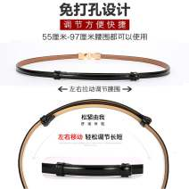 Belt / belt / chain Double skin leather Black, Dark Khaki, white, red, blue, pink female belt Versatile Single loop juvenile a hook Glossy surface Patent leather 1cm alloy alone Other / other GP-0857