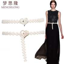 Belt / belt / chain other Silver button, gold button female Waistband Versatile Single loop juvenile a hook Diamond inlay Glossy surface 1.6cm alloy weave Other / other M-1-274 65cm