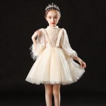 Children's dress female 100cm 110cm 120cm 130cm 140cm 150cm 160cm Mimi flower full dress Class B polyester fiber Winter 2020 3 years old, 4 years old, 5 years old, 6 years old, 7 years old, 8 years old, 9 years old, 10 years old, 11 years old, 13 years old, 14 years old princess