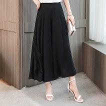 Casual pants XL,2XL,3XL,4XL Summer 2020 Ninth pants Wide leg pants High waist commute Thin money 81% (inclusive) - 90% (inclusive) Other / other Korean version