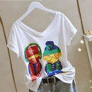 T-shirt M,L,XL,2XL,3XL,4XL Summer 2021 Short sleeve V-neck easy Regular routine commute cotton 96% and above 25-29 years old Korean version youth Letters, characters, solid colors Other / other printing