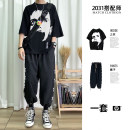T-shirt Youth fashion routine S,M,L,XL,2XL,3XL Others three quarter sleeve Crew neck easy daily summer 1287 + head portrait teenagers tide 2020 cotton