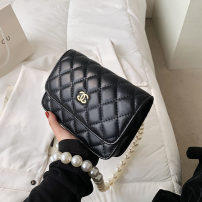 Bag The single shoulder bag Mink hair Small square bag Other / other brand new Fashion trend in leisure time soft zipper yes Solid color Single root One shoulder cross carry Yes youth Horizontal square Belt decoration Soft handle polyester fiber set-in pocket