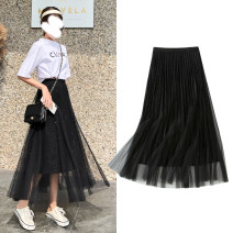 skirt Spring 2021 Skirt length 78cm 86cm Black skirt grey skirt Mid length dress Versatile High waist Fairy Dress Solid color Type A 18-24 years old MOL-015 51% (inclusive) - 70% (inclusive) other Maureen Viscose Pleated Sequin mesh lace Pure e-commerce (online only)