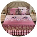 Bed skirt 150 * 200cm three piece set, 180 * 200cm three piece set, 180 * 220cm three piece set, 200 * 220cm three piece set Others Other / other Plants and flowers Qualified products 4Hs8YFW3