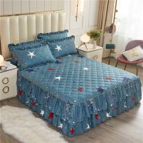 Bed skirt polyester cotton Other / other Plants and flowers Qualified products N94803