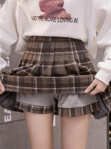 skirt Autumn 2020 S,M,L,XL Blue, black, brown Short skirt commute High waist Pleated skirt Solid color Type A 18-24 years old JZ1301 51% (inclusive) - 70% (inclusive) other other Pleated, zipper Korean version
