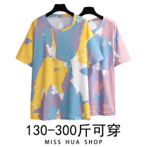 Women's large Summer 2021 Yellow, brown 2XL,3XL,4XL,5XL,6XL T-shirt singleton  commute easy moderate Socket Short sleeve Crew neck routine other Other / other 18-24 years old