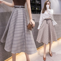 skirt Summer 2021 S M L XL Black and white kaqige Mid length dress Versatile High waist A-line skirt lattice Type A 25-29 years old Y-9726 More than 95% other Yasuen other Frenulum Other 100% Pure e-commerce (online only)