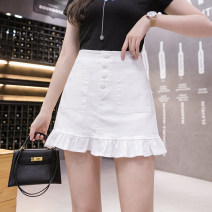 skirt Summer 2021 S M L XL White black Short skirt Versatile High waist A-line skirt Solid color Type A 18-24 years old Y-80059 More than 95% other Yasuen other Other 100% Pure e-commerce (online only)